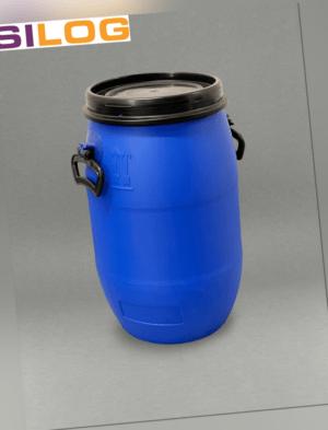 Deckelfass, 30 l, Fass, 30 Liter, Gartenfass, inkl. Deckel, Spannring schwarz