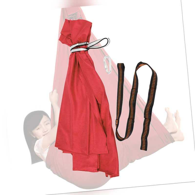 Kinderschaukel Hängematte Hängekapsel Sensory Swing Karabiner Rot