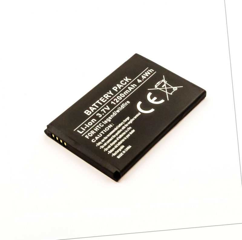 Akku kompatibel mit HTC Legend 3,00 Volt 1200 mAh 3,60 Wh