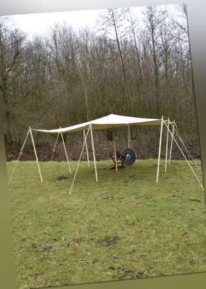 Lagerplane / Sonnensegel aus Segeltuch, 350g/m², natur, diverse Größen