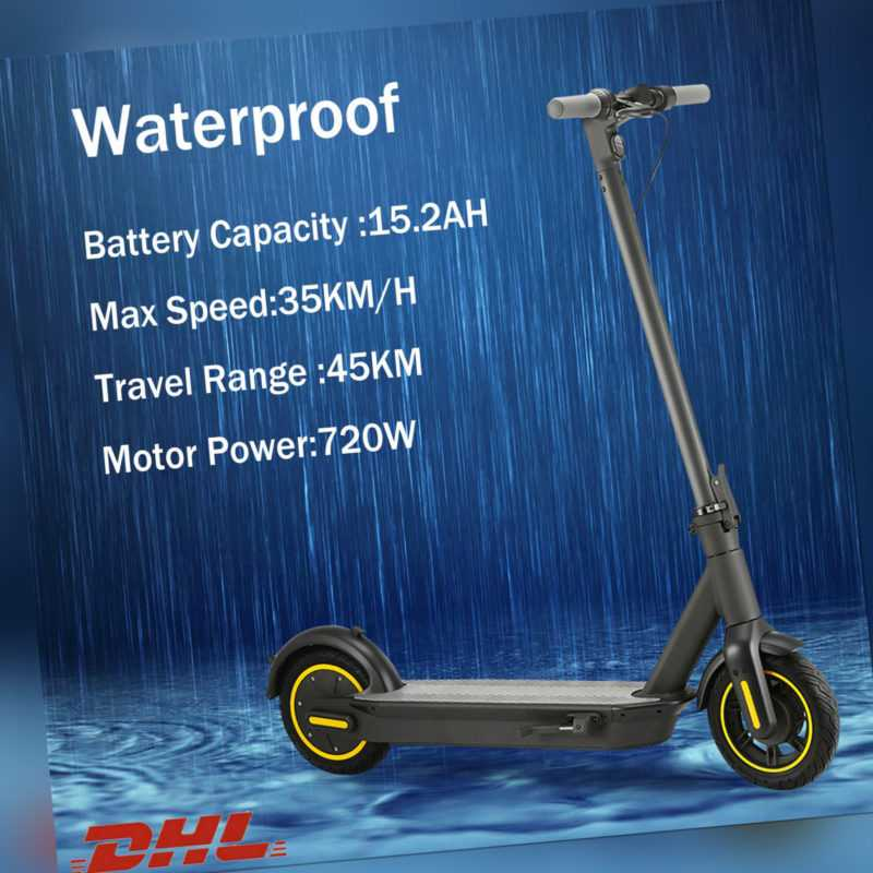 10 Zoll Elektro-Scooter E-Scooter 720W Motor 15Ah Batterie 45km Reichweite G30