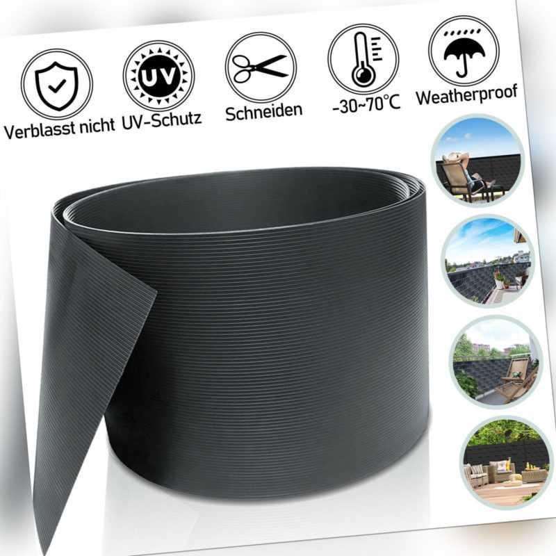 40X Sichtschutzstreifen Sichtschutzmatte UV-bestädig Rolle Hart PVC 2.5mx19cm