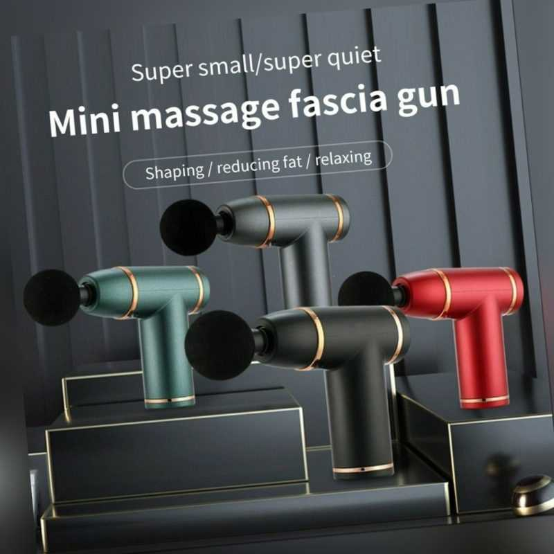 Mini Massagepistole bis zu 3200U/min Massage Gun Massagegerät mit 1800mAh Akku
