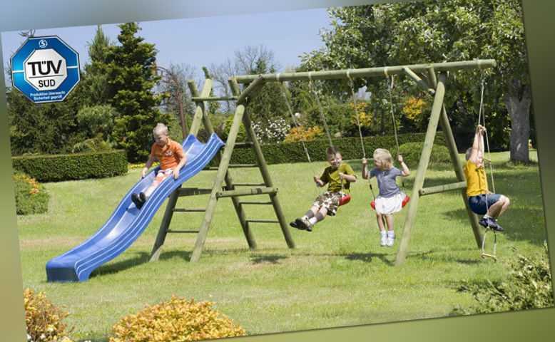 Schaukel Classic 5.2 Kinderspielgerät Palisaden Kinderschaukel Klettern Holz NEU