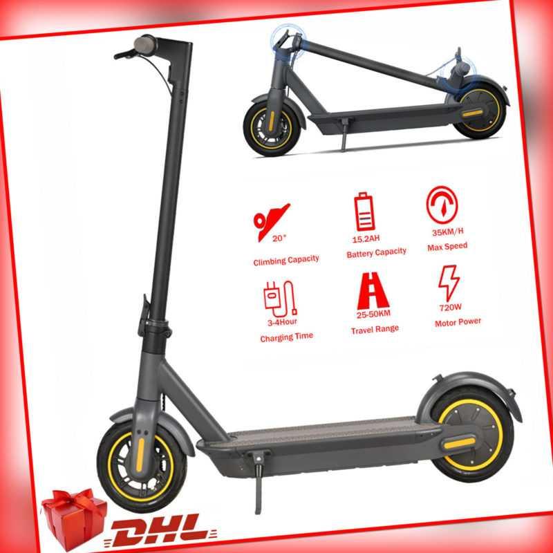E-Scooter 35km/h 720W 15.2Ah Elektro Scooter Elektroroller Faltbar 10Zoll Roller