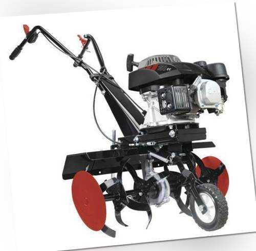 scheppach Benzin Motorhacke MTP570 SE Gartenhacke Bodenfräse 2700W 3,7 PS 150cm³