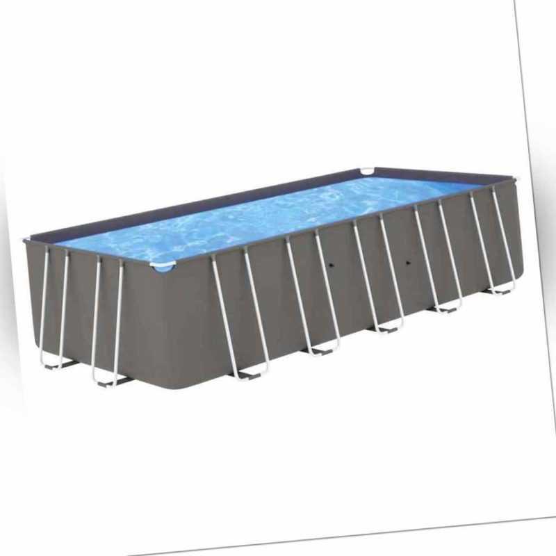 vidaXL Swimming Pool mit Stahlrahmen 540x270x122cm Schwimmbecken Schwimmbad