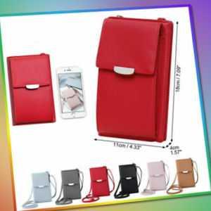 Damen kleine Handtasche Handy Umhängetasche Geldbörse RFID Schutz Crossbody