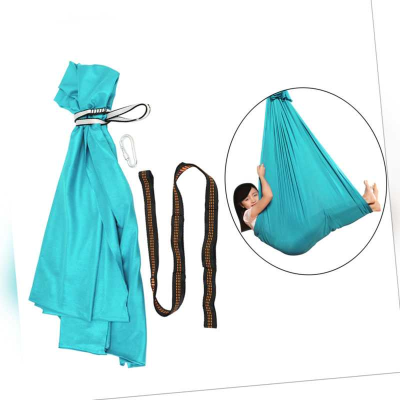 Kinderschaukel Hängematte Hängende Kapsel Sensory Swing Karabiner Hellblau