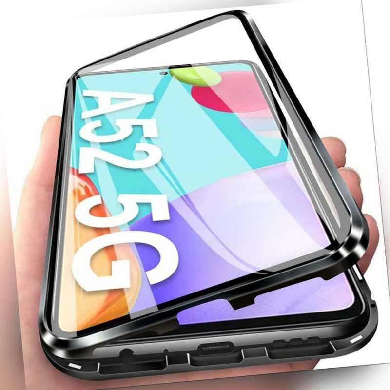 360° Schutz Hülle Für Samsung Galaxy A52s 5G Magnet Echt Glas Case Handy Tasche