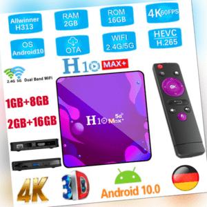 H10 Max+ Android 10.0 TV Box 2+16GB,1+8GB 4K H313 QuadCore WiFi 10/100M LAN X4K4