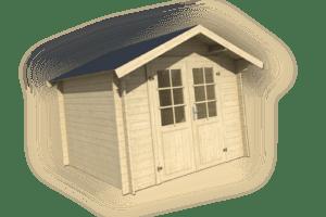 28 mm Gartenhaus Aktion 3x3 m mit Holz Fussboden Gerätehaus Blockhaus Holzhaus