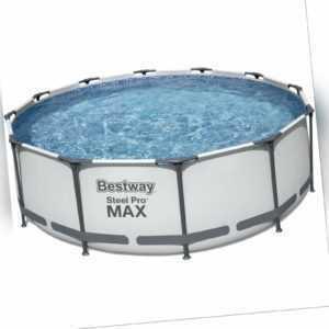 Bestway 56418 Steel Pro Max Frame Pool 366x100cm rund Gartenpool Swimming Pool