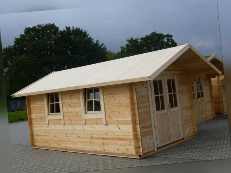 44mm Gartenhaus GRONAU mit 28mm-Fußboden 3,00 x 5,00m, Doppel-Isolierverglasung