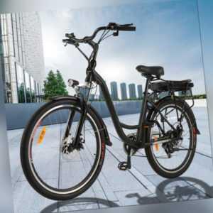 26 Zoll Elektrofahrrad E-BIKE Citybike Shimano Pedelec mit 12,5Ah 250W Motor