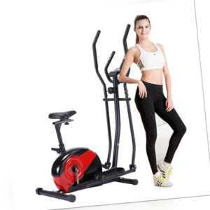 LCD Crosstrainer Heimtrainer Ergometer Fitness Cardiotrainer Cycling Trainer