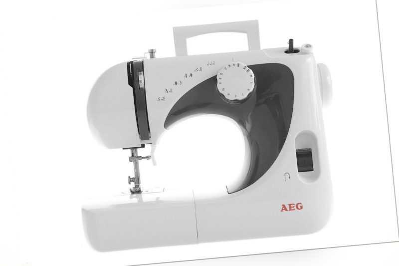 Nähmaschine AEG Modell 105 NM-105 16 Stichprogramme Weiß, Grau