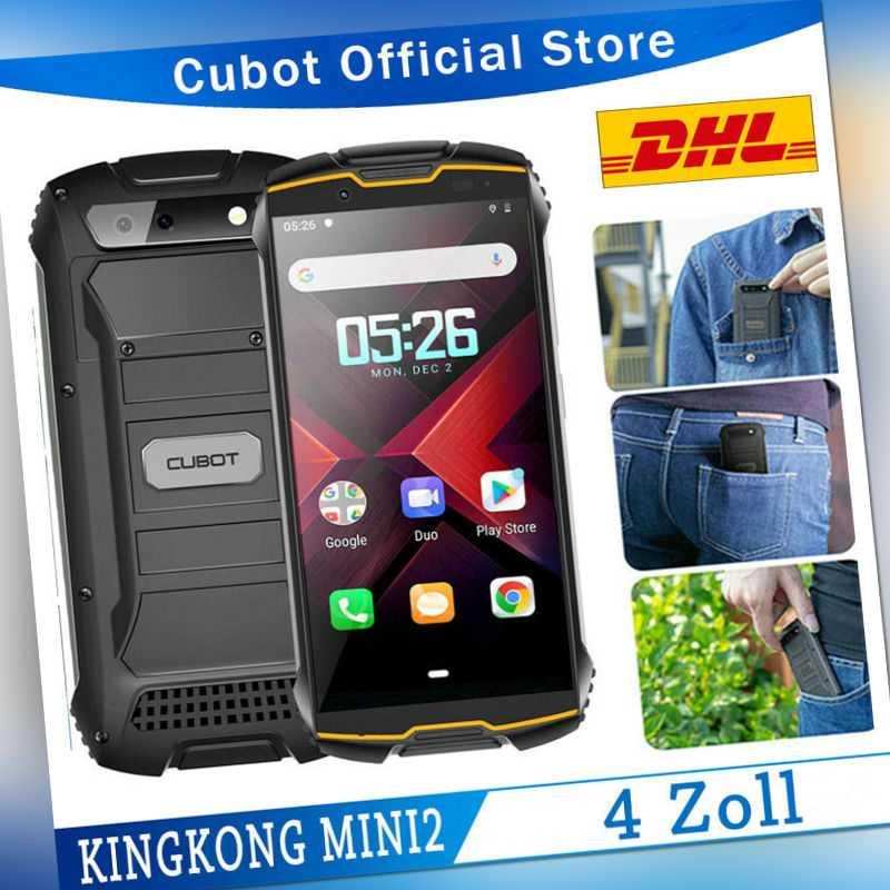"4"" CUBOT KINGKONG MINI2 4G Dual SIM Smartphone Waterproof 3GB+32GB Android Handy"