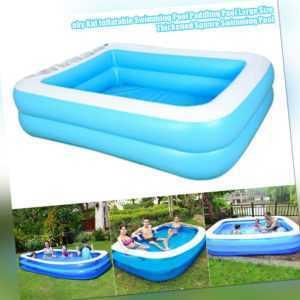 Aufblasbarer Swimmingpool Family Kinderpool Planschbecken Groß Verdickte Becken