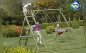 Schaukel Classic 2.1 Kinderspielgerät Palisaden Kinderschaukel Kinder Holz NEU