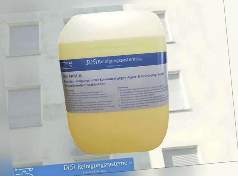 Fassadenreinigung Konzentrat 1:3 gegen Algen- & Grünbelag Schimmel Befall FRM-A