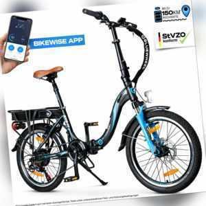 "20"" klappbares E-Bike I Deutsche Qualitätsmarke I Shimano 7 Gang I 25 km/h BXB55"