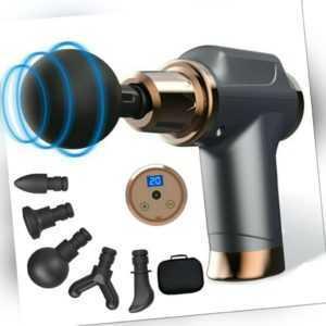 Mini Electric Massage Gun Massagepistole Massager Muscle Massagegerät w/ 5 Köpfe