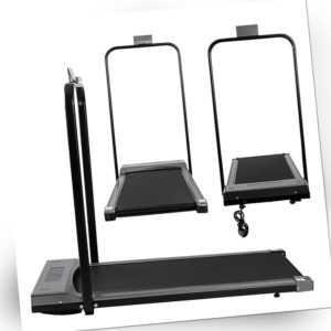 Elektrisches Laufband mit LCD-Display Bluetooth Faltbares Fitnessgerät 1-12 Km/h