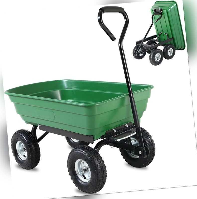 Gartenwagen Bollerwagen Transportwagen Handwagen Gartenkarre mit Kippfunktion DE