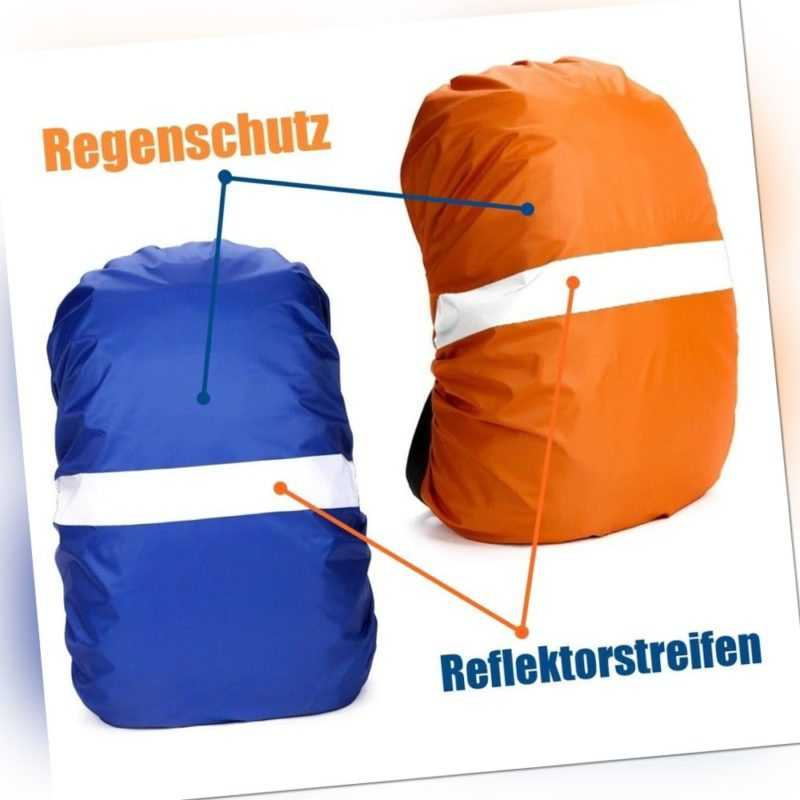 Regenschutz Schulranzen Rucksack Taschen Reflektor Schutzhülle Regenhülle 35L