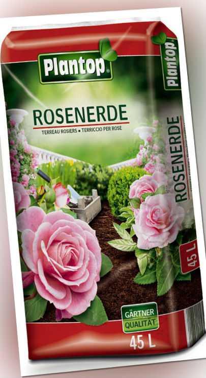 Rosenerde Plantop 45 Liter NEU Blumenerde Rosen-Erde Gärtnerqualität aus Bayern!