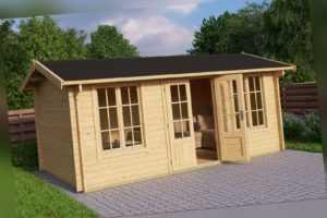 Gartenhaus Pembrokeshire 53, ca. 500 x 300 cm 44 mm Blockbohlen LASITA MAJA