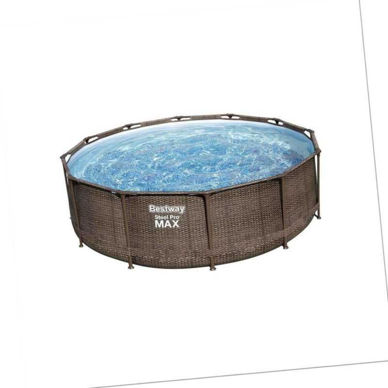 Bestway 56709 Steel Pro Max Frame Pool 366x100cm rund Gartenpool Swimming Pool