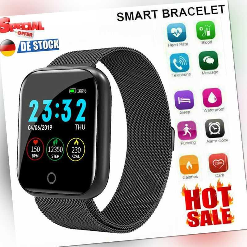 2021 Bluetooth Smartwatch Sportuhr Uhr Pulsuhr Blutdruck Fitness Tracker Armband
