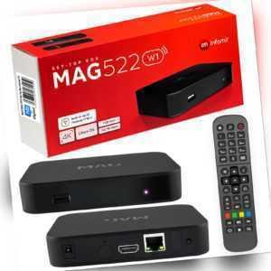 MAG 522w1 IPTV Receiver BOX HEVC H.265 USB Multimedia Player UHD Linux 4K LAN TV