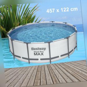 Poolfolie Bestway 457x122cm Pool Steel Pro MAX mit Rahmen Ersatz Swimming Folie
