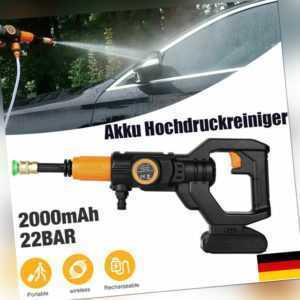 20V/3, 0 Ah Li-Ion Akku Hochdruckreiniger Mobiler Druckreiniger Spritzpistole