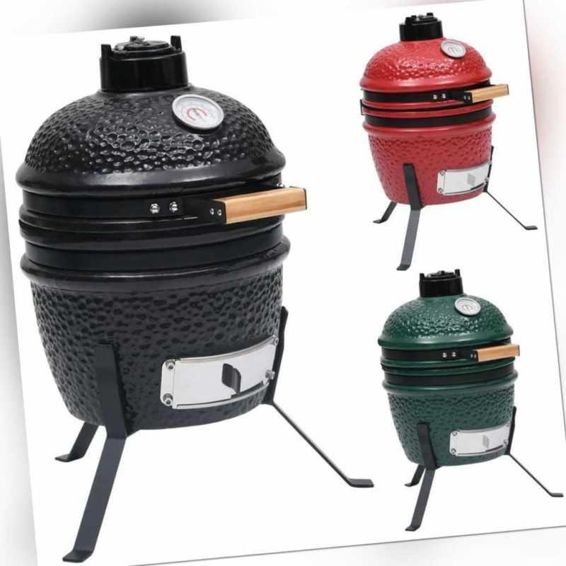 vidaXL Kamado Grill Smoker 2-in-1 Keramik 56cm Holzkohlegrill mehrere Auswahl