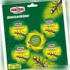 Substral Celaflor Ameisen-Köder Ameisenmittel Abwehr Bekämpfung, 4 Dosen