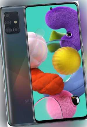 SAMSUNG Galaxy A51 128 GB 6,5 Zoll SAMOLED 48 MP Quad Kamera schwarz