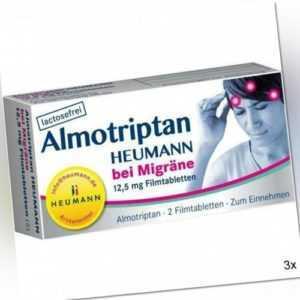3x ALMOTRIPTAN Heumann bei Migräne 12,5 mg Filmtabl. 2 St PZN: 10750044