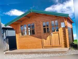 35 mm Gartenhaus 400x500 cm 4x5 m Gerätehaus Holzhaus Blockhaus inkl. Fußboden