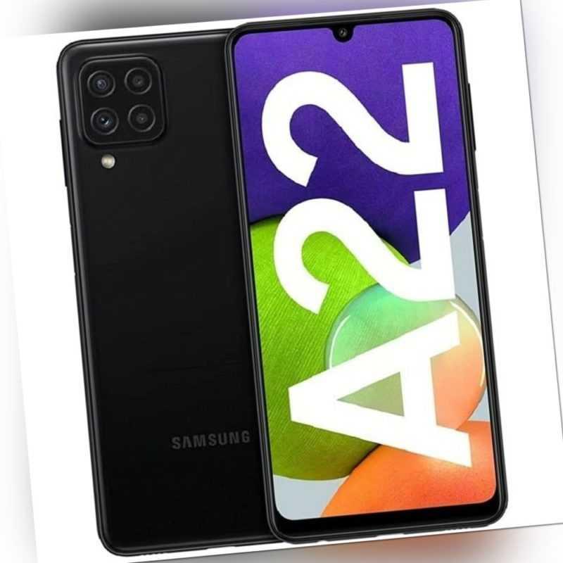 Samsung Galaxy A22 128 GB / 4 GB Smartphone black 6,4 Zoll / 16,23...