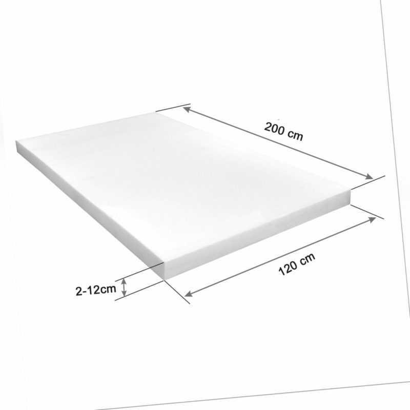 Schaumstoffplatte Schaumstoff Schaumstoffpolster Matratze Schaum 120x200cm