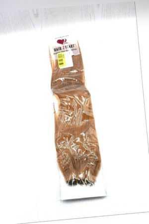 hair2heart 100g Echthaar-Tresse - glatt - 50 cm - #12 honigblond