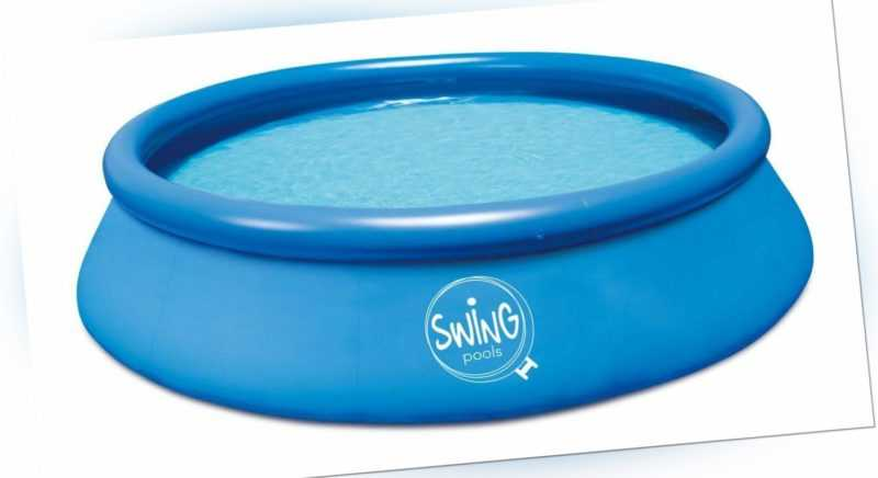 Quick Up Pool 457 x 122 cm Swimmingpool 4,57 x 1,22 Aufstellpool für den Garten