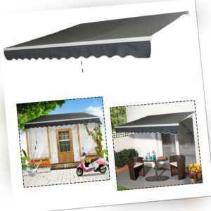 Alu Sonnenmarkise 3,6m x 3m Terrasse Sonnenschutz Gelenkarmmarkise Wasserdicht