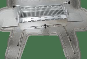 Mangal Edelstahl Astana 2 mm rostfrei Schaschlik Grill Rost verstellbar
