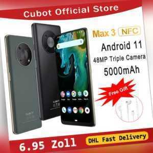"6.95"" CUBOT MAX 3 NFC 4GB+64GB 4G Dual SIM Smartphone 5000mAh Android 11 Handy"