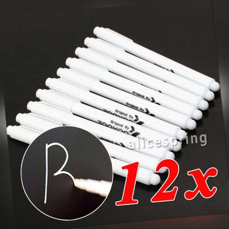 12x Weiß Flüssigkreide Kreidestift Kreide Marker Tafel Abwischbar kein Staub DE